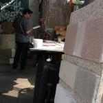 Esposizione pannelli in calce canapa e finiture naturali