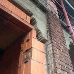 dettaglio raccordo nuova parete-pilastro esistente