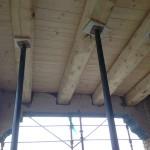 nuova porzione di soletta in carpenteria lignea