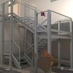 scala metallica di accesso al nuovo piano